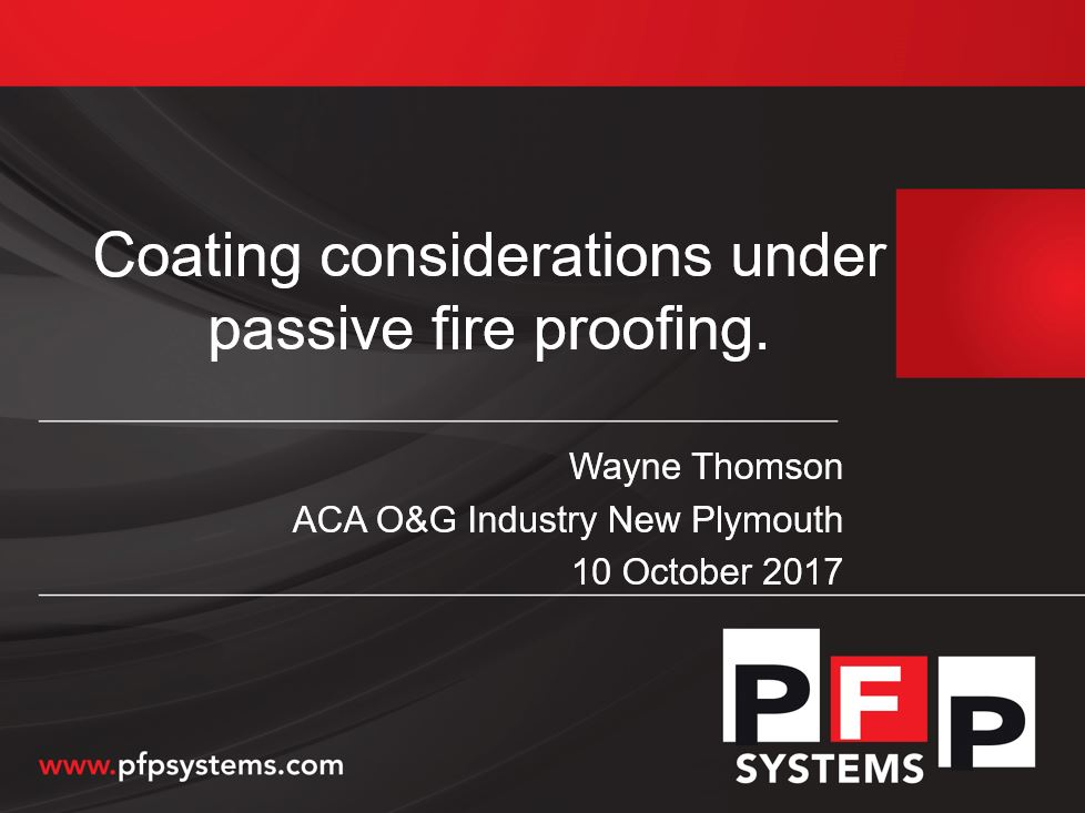 Coating considerations under passive fire proofing | Wayne Thomson